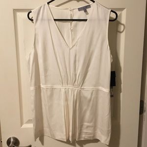 NWT Classiques Entier Ivory Sleeveless Silk Blouse